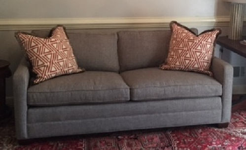 This client opted to purchase a new sofa.  The old one was...