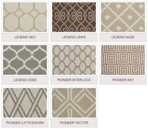 A variety of patterns and a neutral palette make this collection classic and elegant.
