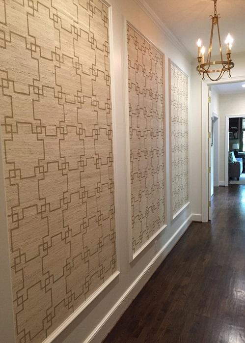 Framed Grasscloth Panels