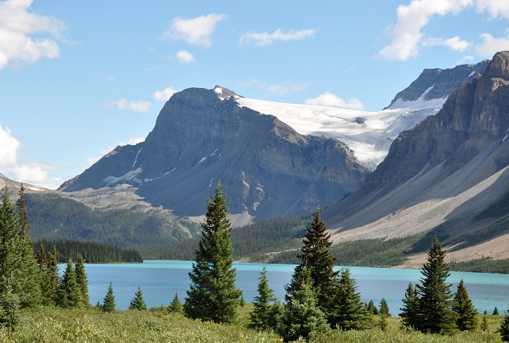The Bow River and Bow Glacier.