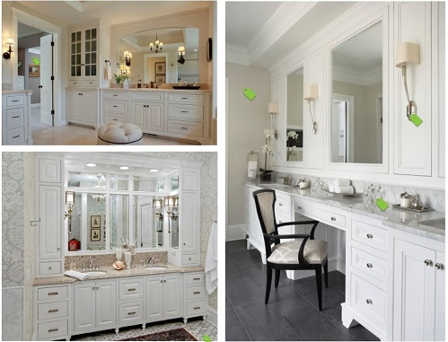 Pictures from Houzz helped her find her inspiration for the look of the master bath.