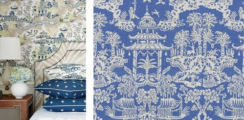 Wallpaper to pillows, oriental patterns can add interest to any room.